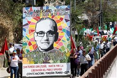 Salvadorans walk 90-plus miles to mark centennial of Romero's birth