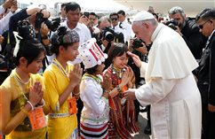 WATCH: Pope meets generals after brief welcome by children in Myanmar