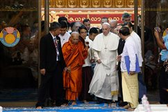 WATCH: Buddhists, Christians must reclaim values that lead to peace, pope says