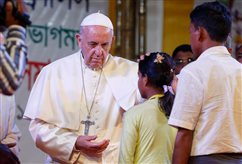 WATCH: Defend God's image by defending the Rohingya, pope urges