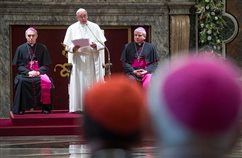 Curia exists for service, not for glory, pope says