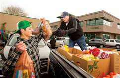 Jesuit food drive helps hundreds of families