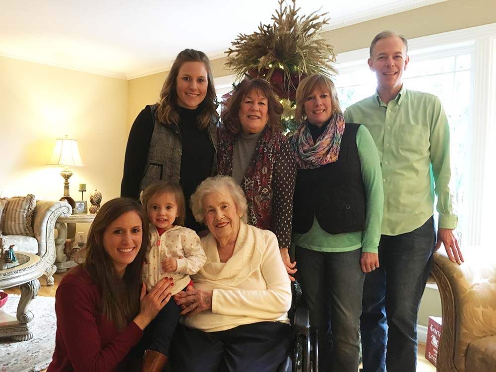 Joyce Sample gathers with her children, grandchildren and great grandchild at Christmas, six days before her death. (Courtesy Sample family)