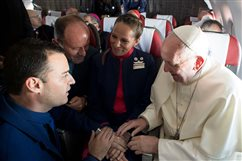 In-flight nuptials: Pope didn't glide over church requirements