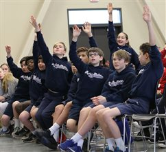 Sixth-grade rally encourages youths to find their 'greatest joy'