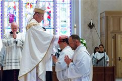 WATCH: Ordinations recall church's early years
