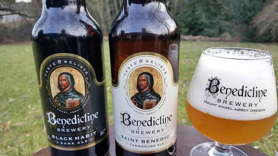 The monks' brews include Black Habit Dark Ale and St. Benedict Farmhouse Ale. (Courtesy Mount Angel Abbey)