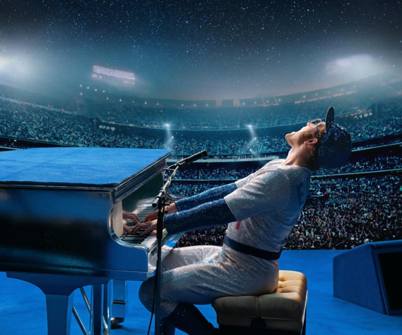 "Taron Egerton stars in a scene from the movie ""Rocketman."" The Catholic News Service classification is O — morally offensive. The Motion Picture Association of America rating is R — restricted. Under 17 requires accompanying parent or adult guardian. (CNS photo/Paramount)"