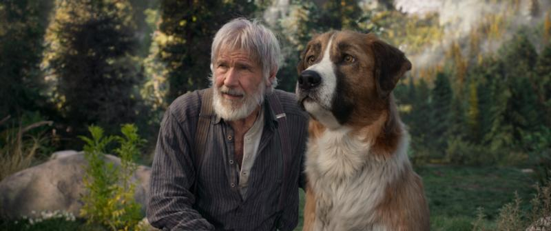 "Harrison Ford and a dog named Buck appear in the movie ""The Call of the Wild."" The Catholic News Service classification is A-II — adults and adolescents. The Motion Picture Association rating is PG — parental guidance suggested. Some material may not be suitable for children. (CNS photo/Fox)"