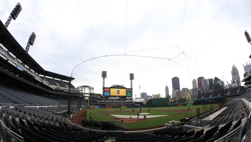 The Pittsburgh Pirates' PNC Park is seen July 7, 2020. (CNS photo/Charles LeClaire-USA TODAY Sports via Reuters)