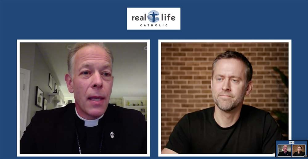 Archbishop Alexander Sample and Chris Stefanick talk March 10 during an episode of the webcast Real Life Catholic.