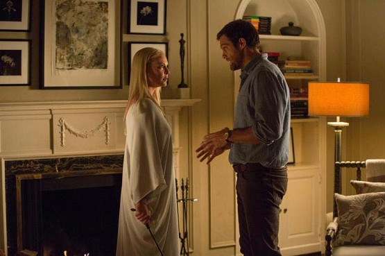 "Katherine Heigl and Geoff Stults star in a scene from the movie ""Unforgettable."" The Catholic News Service classification is L — limited adult audience, films whose problematic content many adults would find troubling. The Motion Picture Association of America rating is R — restricted. Under 17 requires accompanying parent or adult guardian.(CNS photo/Warner Bros.)"