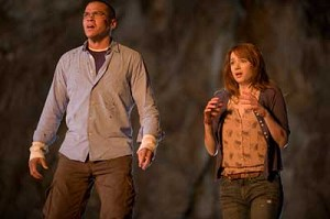 "Jesse Williams and Kristen Connolly star in a scene from the movie ""The Cabin in the Woods."" The Catholic News Service classification is O -- morally offensive. The Motion Picture Association of America rating is R -- restricted. Under 17 requires accomp anying p arent or adult guardian. (CNS photo/Lionsgate)"
