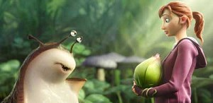 "A slug named Mub, voiced by Aziz Ansari, and MK, voiced by Amanda Seyfried, are seen in the animated movie ""Epic."" The Catholic News Service classification is A-I -- general patronage. The Motion Picture Association of America rating is PG -- parental gu idance suggested. Some material may not be suitable for children. (CNS photo/Fox)"