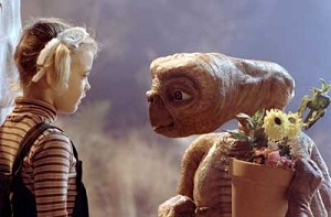 "Gertie (Drew Barrymore) says goodbye to her friend from outer space in the rerelease of the 20-year-old film ""E.T. The Extraterrestrial."" The U.S. Conference of Catholic Bishops classification is A-I -- general patronage. The Motion Picture Association of America rating is PG -- parental guidance suggested. (CNS photo from Universal Pictures)"