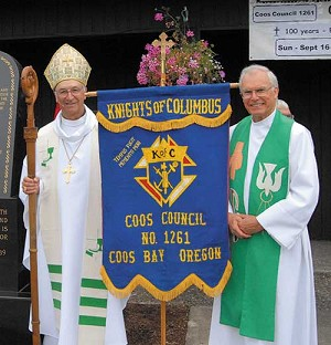 Photo contributed by Holy Redeemer Parish Father Karl Schray with retired Auxiliary Bishop Kenneth Steiner.