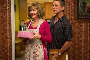 "Glenne Headly and Tony Danza star in a scene from the movie ""Don Jon."" The Catholic News Service classification is O -- morally offensive. The Motion Picture Association of America rating is R -- restricted. Under 17 requires accompanying paren t or adul t guardian.(CNS photo/Relativity Media)"